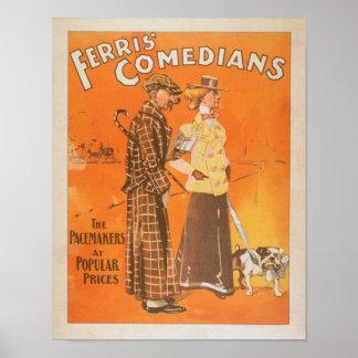 """Cómicos """"marcapasos de Ferris en los precios popul Póster"""