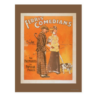 """Cómicos """"marcapasos de Ferris en los precios Postales"""