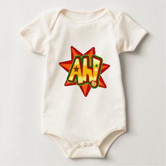 Comics Ah expression on star shape Baby Bodysuit