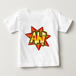 Comics Ah expression on star shape Baby T-Shirt
