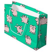 Comics Fun Cartoon Pig Baby 2019 Choose Color L G Large Gift Bag