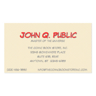Comics II Double-Sided Standard Business Cards (Pack Of 100)