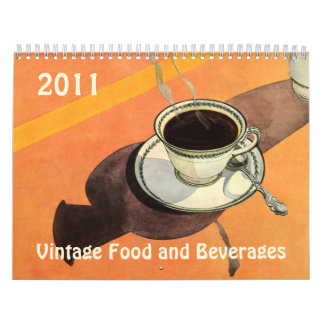 Comida 2011 del vintage y calendario de las
