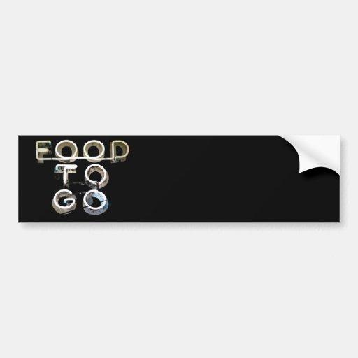 Comida a ir etiqueta de parachoque