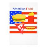 Comida americana papeleria de diseño