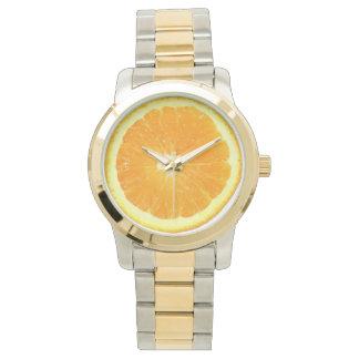Comida anaranjada de la novedad de la rebanada relojes de mano