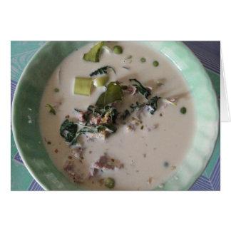 Comida asiática de la calle de Tailandia del curry Tarjeta De Felicitación