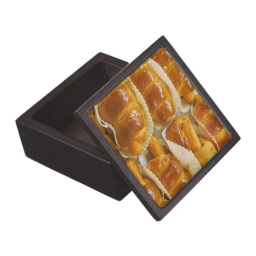 Comida asiática del postre de la torta del perrito caja de joyas de calidad