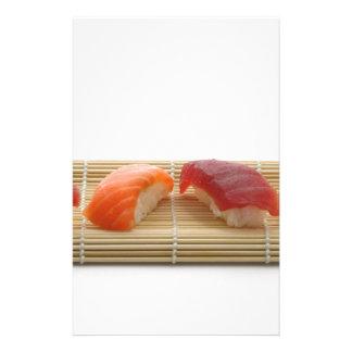 Comida asiática deliciosa japonesa del sushi personalized stationery