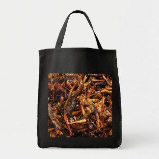 Comida asiática frita del saltamontes (Takkataen Bolsa Tela Para La Compra