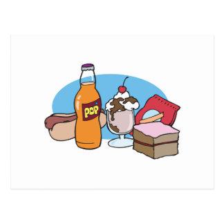 comida basura a montones postales