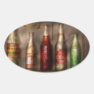 Comida - bebida - soda preferida calcomania oval