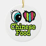 Comida brillante del chino del amor del corazón I