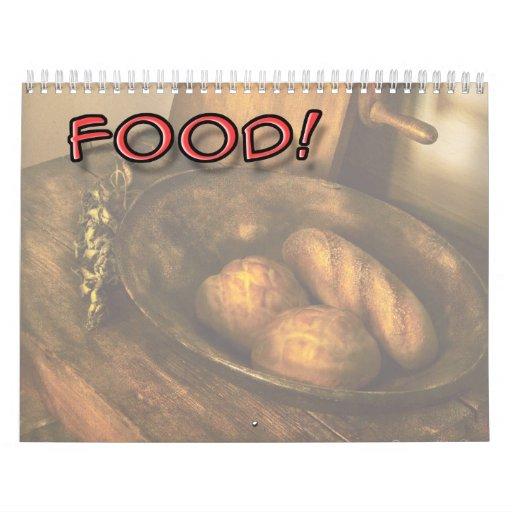 ¡Comida! Calendario De Pared
