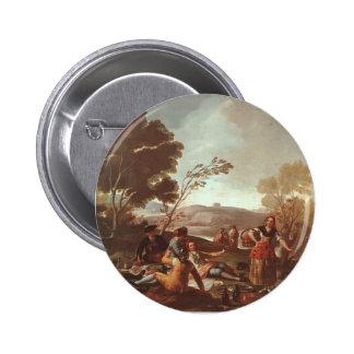 Comida campestre de Francisco Goya- en los bancos Pin