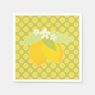 Comida campestre de la rebanada del limón servilletas desechables