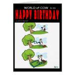 Comida campestre de la vaca tarjeta de felicitación