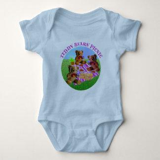 Comida campestre de los osos de peluche body para bebé