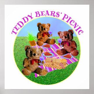 Comida campestre de los osos de peluche impresiones
