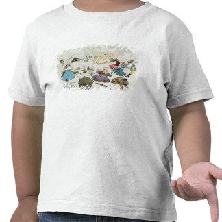 Comida campestre del Boer en la colina media pertu Camisetas
