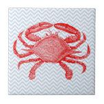 Comida campestre del cangrejo de los mariscos del  tejas  cerámicas