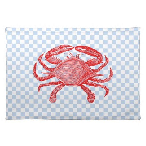 Comida campestre del cangrejo de los mariscos del  manteles