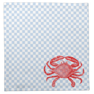 Comida campestre del cangrejo de los mariscos del  servilleta de papel