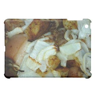Comida campestre del cerdo con las patatas y las c