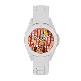 Comida campestre del helado del vintage relojes