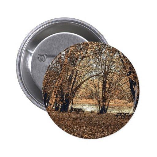 Comida campestre del otoño pin redondo 5 cm