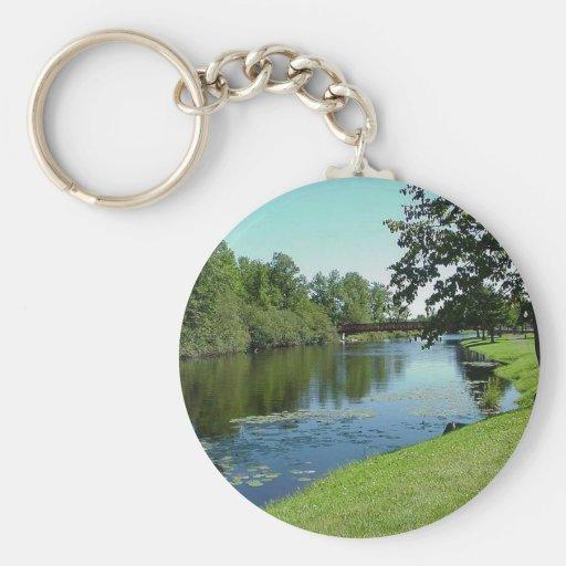 Comida campestre del parque del agua de río de la  llavero