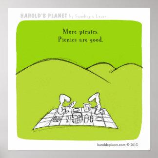 """Comida campestre del planeta de HP5041 """"Harold"""" Póster"""
