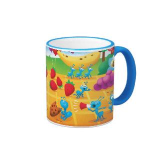 Comida campestre del verano taza de café