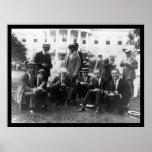 Comida campestre en la Casa Blanca en DC 1920 Posters