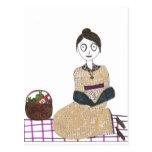 Comida campestre espeluznante de Jane Austen Tarjeta Postal