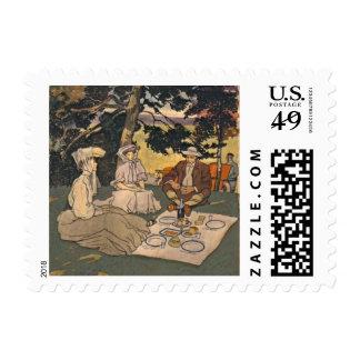 Comida campestre refinada 1904 sellos