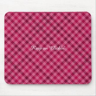 Comida campestre rosada en Plad - rosa fuerte Mouse Pads
