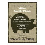 Comida campestre y cerdo del Bbq Brown Invitaciones Personalizada