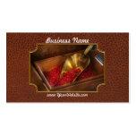 Comida - caramelo - caramelos calientes del canela tarjeta personal