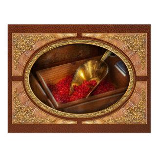 Comida - caramelo - caramelos calientes del canela postal