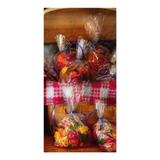 Comida - caramelo - osos gomosos para la venta tarjeta fotográfica personalizada