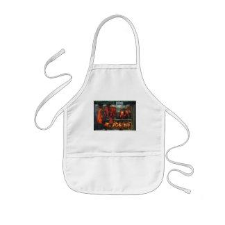 Comida - carne de la carne asada para la venta delantal infantil