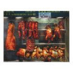 Comida - carne de la carne asada para la venta invitación 10,8 x 13,9 cm