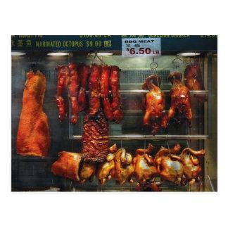 Comida - carne de la carne asada para la venta postales