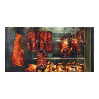 Comida - carne de la carne asada para la venta tarjetas fotográficas personalizadas