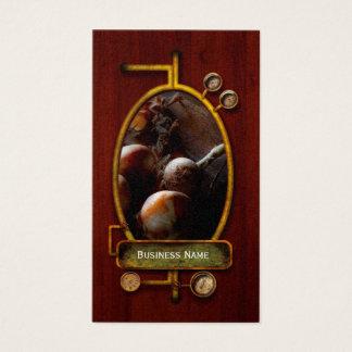 Comida - cebollas recientemente tiradas tarjetas de visita