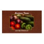 Comida - cebollas, tomates, pimientas, y pepinos tarjetas de visita