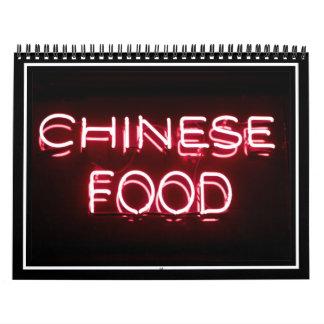 COMIDA CHINA - señal de neón roja Calendario