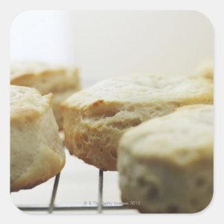 Comida, comida y bebida, galletas, mantequilla, pegatina cuadrada