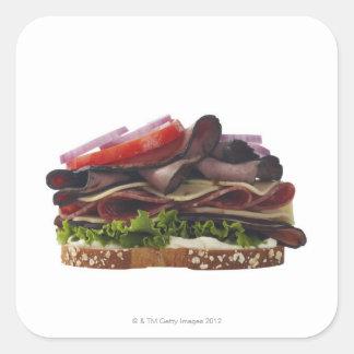 Comida, comida y bebida, trigo, pan, avena, Mayo, Pegatina Cuadrada